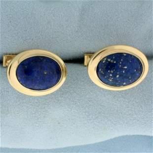 Dolan Bullock Lapis Lazuli Cuff Links in 14K Yellow
