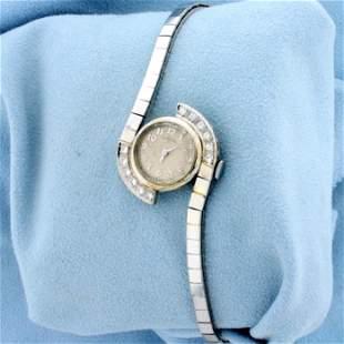 Vintage Diamond Hamilton Wind-Up Watch in Solid 14K