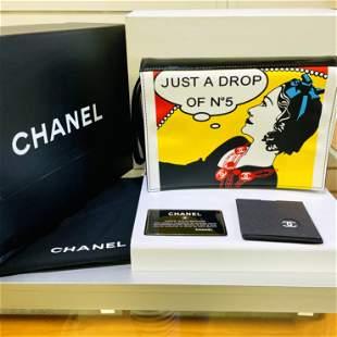 Authentic Chanel Clutch Bag Just a Drop of No 5 Comic