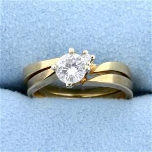 Matching Diamond Engagement Ring with Wedding Band