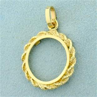 18mm Coin Bezel Pendant for Indian Head Gold Coin in