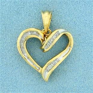 1/3ct TW Diamond Heart Pendant in 10K Yellow Gold