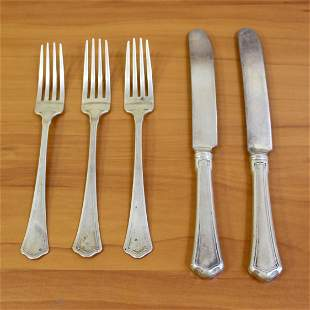 Wallace Washington Five Piece Sterling Silver Flatware
