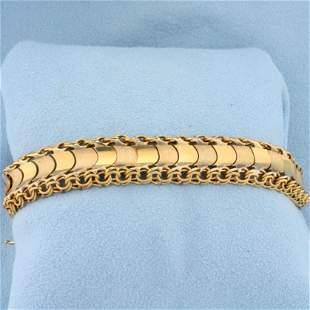 Heavy Designer Link Bracelet in 18K Yellow Gold