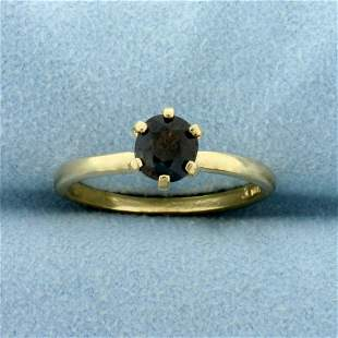 2/3ct Solitaire Natural Alexandrite Ring in 14K Yellow