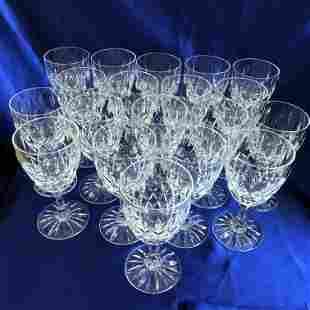 19-Piece Set Royal Brierley Gainsborough Cut Crystal