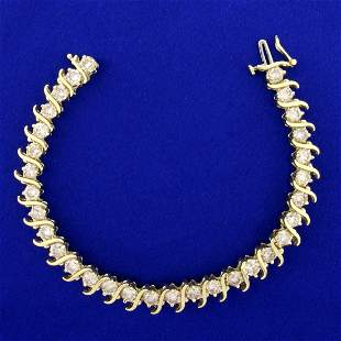 10ct TW Diamond Tennis Bracelet in 14K Yellow Gold