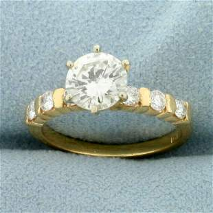 1.5ct TW Diamond Engagement Ring in 18K Yellow Gold