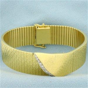 Designer Diamond Bracelet in 18K Yellow Gold
