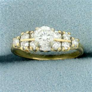 Vintage 1ct TW Diamond Engagement Ring in 14K Yellow