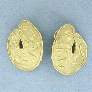 Hand Crafted Large Statement Designer Earrings in 18K
