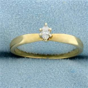 Marquise Solitaire Diamond Engagement Ring in 14K