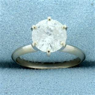 Over 2ct Solitaire Diamond Engagement Ring in 14K White