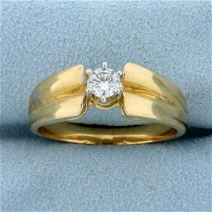 1/4ct Solitaire Diamond Engagement Ring in 14K Yellow