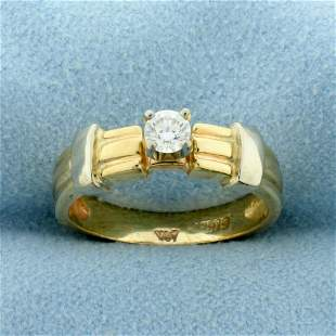 1/5ct Diamond Solitaire Engagement Ring in 14K Yellow