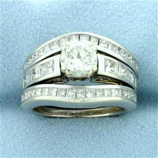 3ct TW Diamond Engagement Ring in 14K White Gold