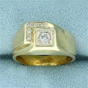 1/4ct TW Diamond Step Design Ring in 14K Yellow Gold