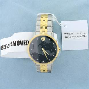 Brand New Men's Movado Museum Classic Diamond Watch in
