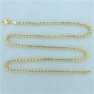 Designer 20 Inch Curb Box Link Chain Necklace in 14K