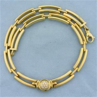 Movado Designer 1/2ct TW Diamond Choker Necklace in 18K