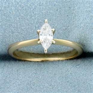 1/3ct Marquise Diamond Solitaire Engagement Ring in 14K