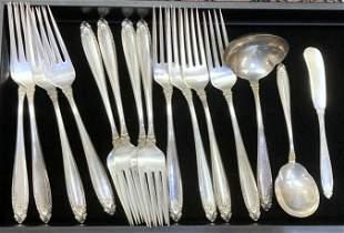 33 Piece Set of International Prelude Sterling Silver