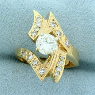 1.25ct TW Diamond Abstract Design Ring in 14K Yellow