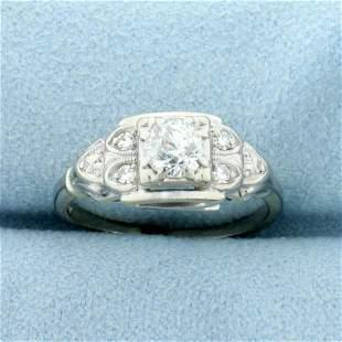Vintage 1/2 TW Old European Cut Diamond Engagement Ring
