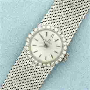 Womens Vintage Manual Wind Omega Wrist Watch In Solid