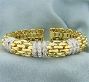 Designer 3ct TW Diamond Ivan & Co. Panther Link Bangle