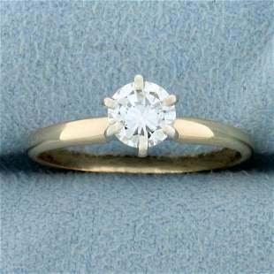 2/3ct Round Brilliant Diamond Solitaire Engagement Ring