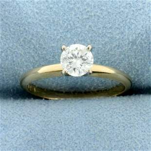 2/3ct Diamond Solitaire Engagement Ring in 14K Yellow