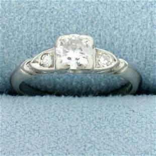 1/2ct TW 3-Stone Diamond Engagement Ring in Platinum