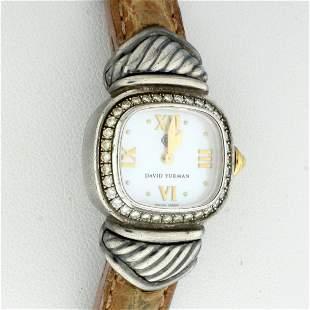 David Yurman womens Thoroughbred Watch with Diamond