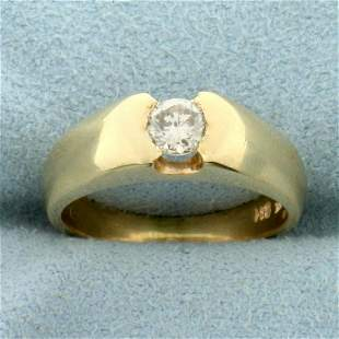 1/3ct Diamond Solitaire Ring in 14K Yellow Gold