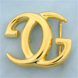 Authentic Gucci Vintage Unisex Large GG Goldtone Belt