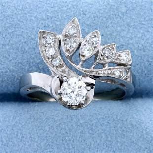 Antique 1/2 ct TW Old European Cut Diamond Ring in 14k