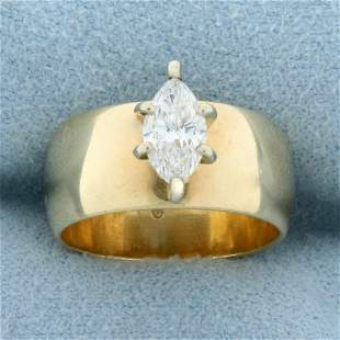 2/3ct Marquise Solitaire Diamond Engagement Ring in 14K