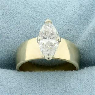 2ct Marquise Diamond Solitaire Ring in 14K Yellow Gold