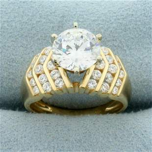 2 1/2ct TW CZ Engagement Ring in 14K Yellow Gold
