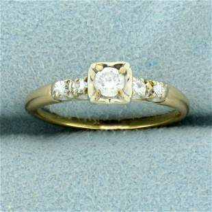 Diamond Engagement Ring in 14K Yellow and White Gold