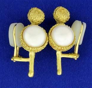 Vintage Custom Created Acorn Nature Design Mabe Pearl