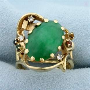 Jade, Ruby, Sapphire, Emerald, and Diamond Statement