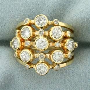 1.5ct TW Diamond Bezel Set Ring in14K Yellow Gold