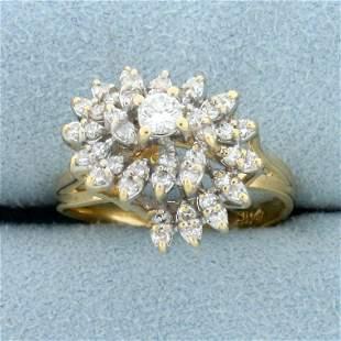 Vintage 1/2ct TW Diamond Spiral Design Ring in 14K