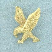 American Eagle Pendant in 14K Yellow Gold