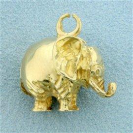 Elephant Pendant in 14K Yellow Gold