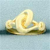 Knot Design Ring in 14K Yellow Gold