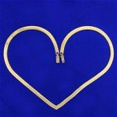 16 Inch Italian Herringbone Necklace in 14K Yellow Gold