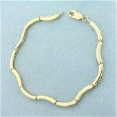 Designer Link Bracelet in 14K Yellow Gold